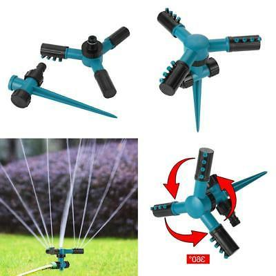lawn sprinklers automatic 360 rotating garden water