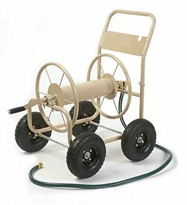 Four Wheel Hose Reel Cart Storage, Portable, Holds up to 300