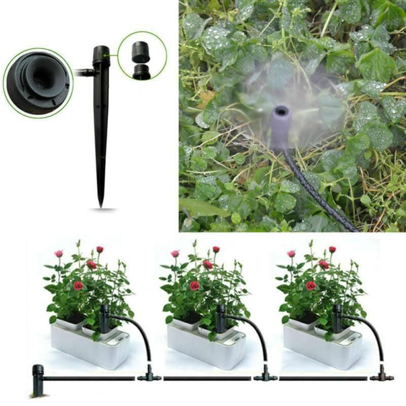 adjustable water flow irrigation drippers stake emitter