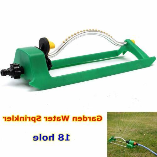 oscillating lawn sprinkler watering garden pipe hose