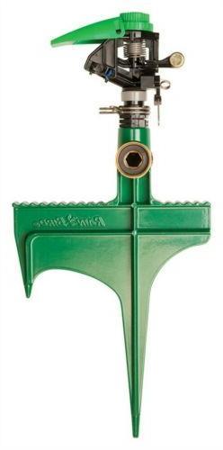Rain Bird P5RLSP Plastic Impact Sprinkler on Large Metal Spi