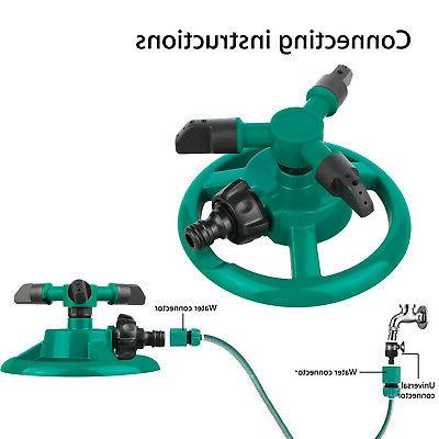 Rotating Impulse Lawn Grass System Water Hose Spray
