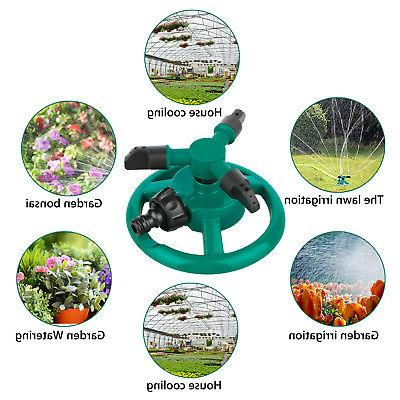 Rotating Impulse Sprinkler Lawn Grass System Water Hose