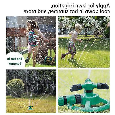 Rotating Impulse Lawn Watering System Water