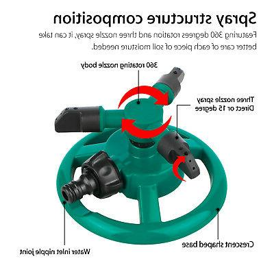 Rotating Impulse Sprinkler Lawn Grass Water