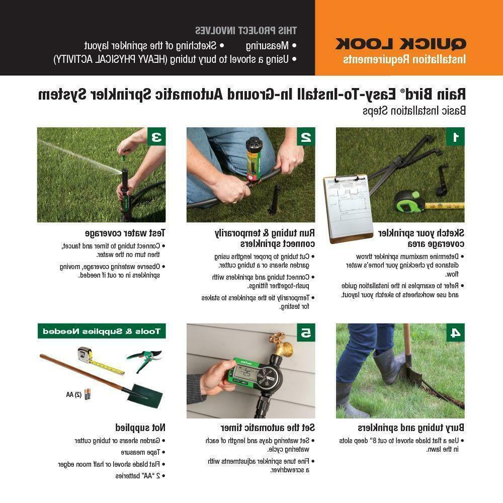 In-Ground Sprinkler System It w/ Rotary