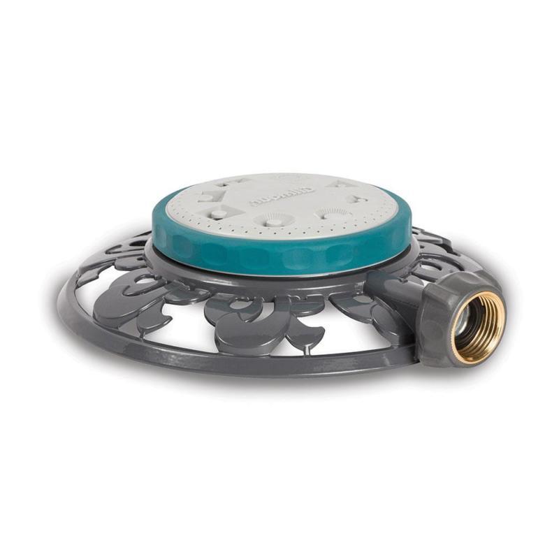 Stationary Sprinkler 1,225 sq. ft. 8-Pattern Durable Metal b