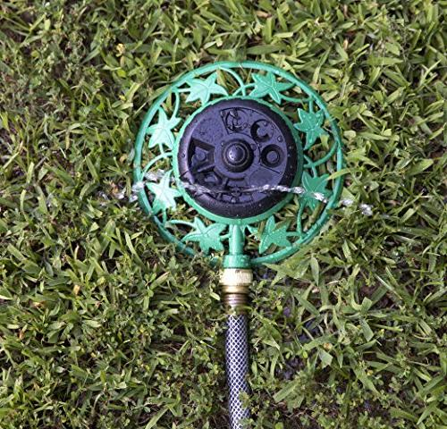 Aqua Stationary Metal Sprinkler Pattern with Base