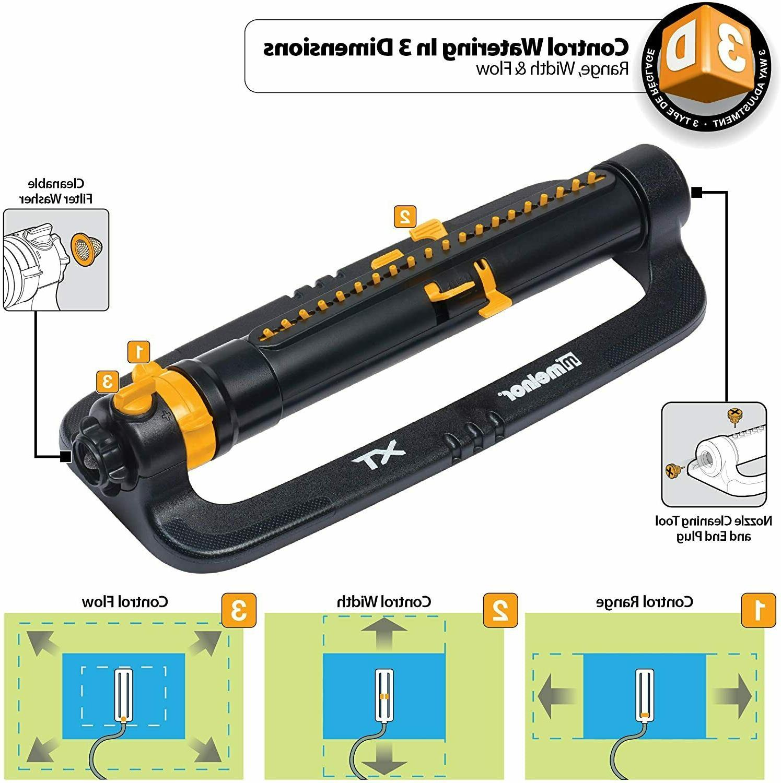 Melnor 65078-AMZ XT Turbo Oscillating Sprinkler with 3-Way A