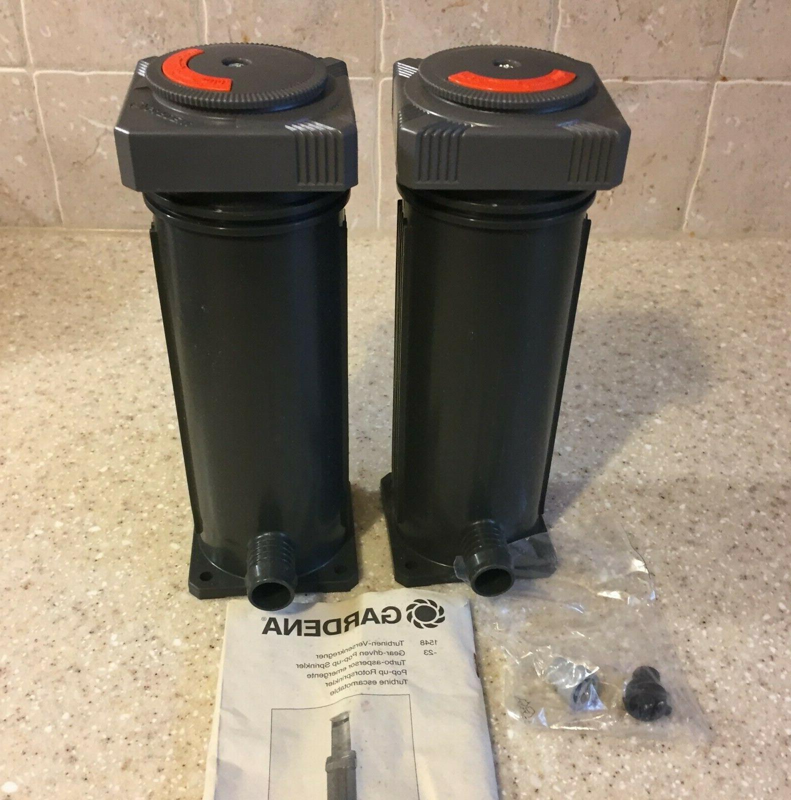 Two GARDENA Up Sprinkler System MADE IN