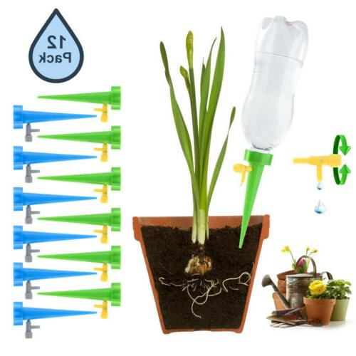 US 24X Plant Watering Adjustable Stakes Spike System R