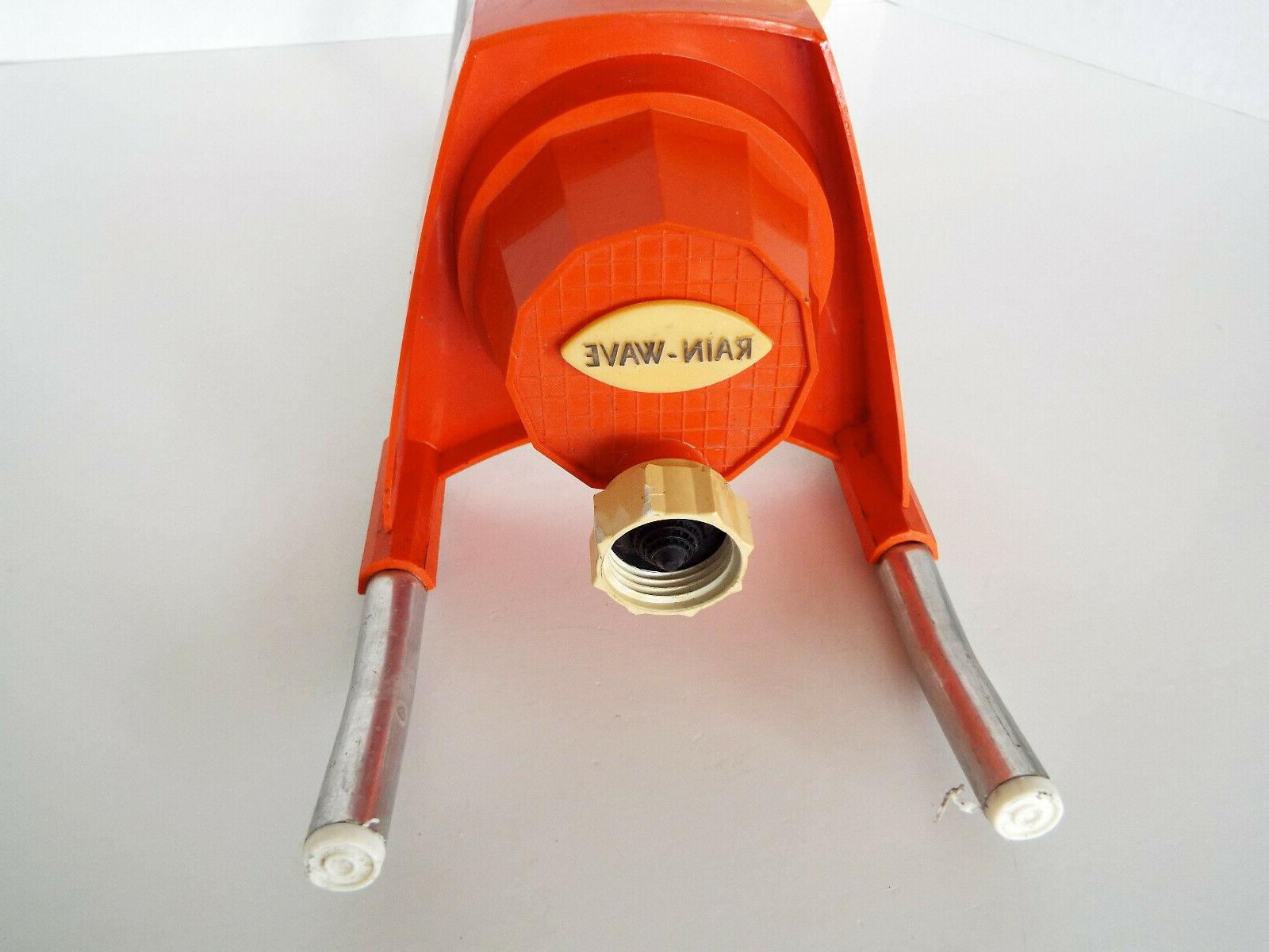 Vintage Rain Wave Sprinkler Oscillating Spray Orange