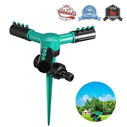 Lihynmy Lawn Sprinkler, Automatic 360 Rotating Watering Spri