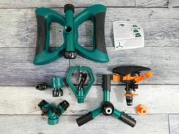 Lawn Sprinkler, Automatic 360 Rotating Adjustable Garden Wat