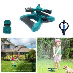 Lawn Sprinkler Automatic 360 Rotating Adjustable Garden Wate