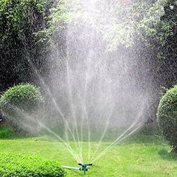 Lawn Sprinkler  Automatic 360 Rotating Garden Water Sprinkle