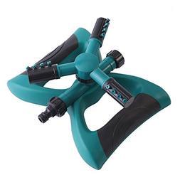 TOOGOO Lawn Sprinkler, Automatic 360 Rotating Adjustable Gar