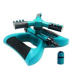 Buyplus Lawn Sprinkler - Automatic 360 Rotating Adjustable G