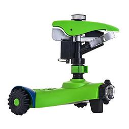 GREEN MOUNT Lawn Sprinkler, Automatic 360 Rotating Adjustabl