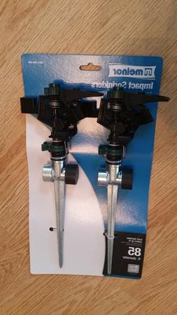 Melnor Lawn sprinkler, rotating impact type, sold as a pair