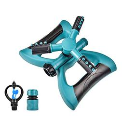 Lawn Sprinkler - Automatic 360 Rotating Adjustable Garden Ho