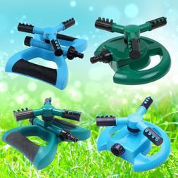 Lawn Sprinklers Garden Rotating Sprinkler 3-Arm Fitting Hose