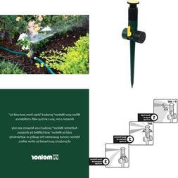 Melnor Multi Adjustable Lawn Sprinkler On A Spike With Integ