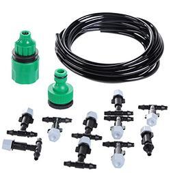 Easydeal Micro-sprinklers Spray Cooling Water Irrigation Kit