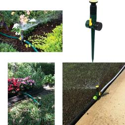 Multi Adjustable Lawn Sprinkler on a Spike with Integrated F