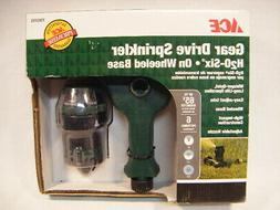 New ACE Gear Drive Sprinkler H2O Six Wheeled Base Yard Garde