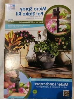 NIB Mister Landscaper Drip Irrigation Micro Spray Pot Stake