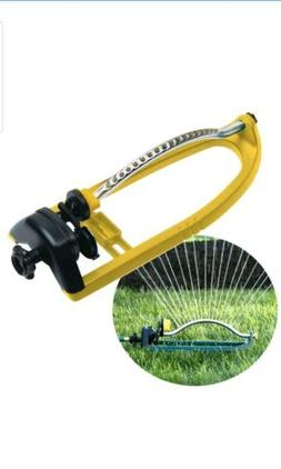 Oscillating Lawn Sprinkler 18 Nozzles Water Hose Irrigation