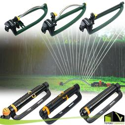 Oscillating Lawn Sprinkler Adjustable Water Sprayer Range Wa
