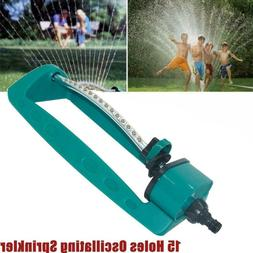 Oscillating Lawn Sprinkler Adjustable Water Sprayer Range Wa