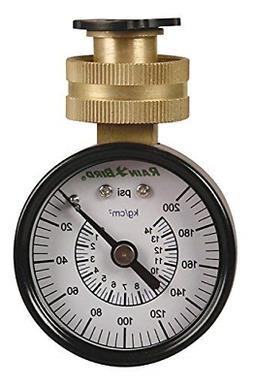 """Rain Bird P2A Water Pressure Test Gauge, 3/4"""" Female Hose Th"""