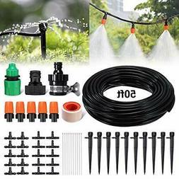 PATHONOR Drip Irrigation Kit 50ft/15m Garden Irrigation Syst