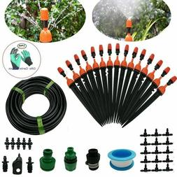 Plant Irrigation Kits Drip System Pipe Spray Diy 50ft Micro
