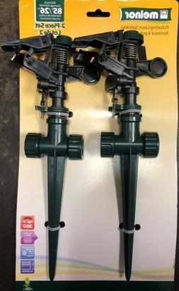Melnor Pulsating Sprinklers; Waters up to 85' Diameter; Dual