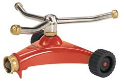 Dramm 15021 Colorstorm 9-Pattern Turret Sprinkler with Heavy-Duty Metal Base Red