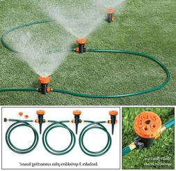 Set of 3 Multi-Function Portable Garden Lawn Sprinkler Head System