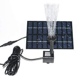 ROADTEC Solar Fountain Pump for Birdbath, 1.8W Solar Powered