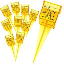 """Ten Pack of 1.5"""" Rain and Sprinkler Gauge Wide Mouth Bright"""