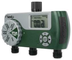 Orbit Three 3 Port Digital LCD Timer Automatic Lawn Watering
