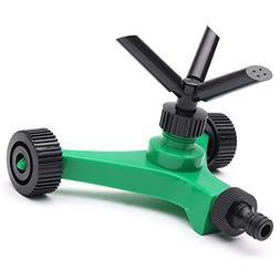 TOOGOO Three-fork Rotary Sprinkler With Wheels Watering Kits