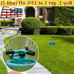 US! 360° Rotating Sprinklers Lawn Automatic Watering Sprink