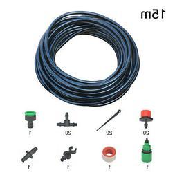 Water Irrigation Kit Set DIY Micro Drip Watering System Plan