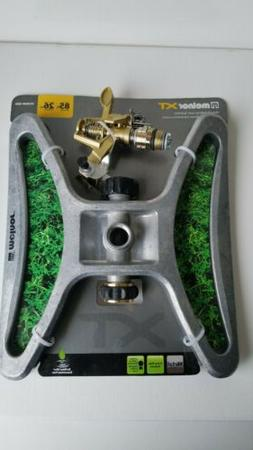 Melnor XT Metal Pulsating Lawn Sprinkler Water Covers Up To